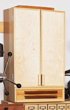Easy, Attractive Drill-bit Cabinet Woodworking Plan from WOOD Magazine