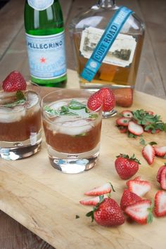 Mississippi River Distilling Company New Fashioned Ingredients:     Cody Road Bourbon - 2 ounces     Sweet Vermouth - 1 ounce     Angostura Bitters - 1 dash     Basil - 4 leaves     strawberries - 2     san pellegrino - for topping off     sugar cube - 1