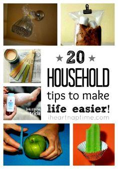 20 Household Tips to Make Life Easier