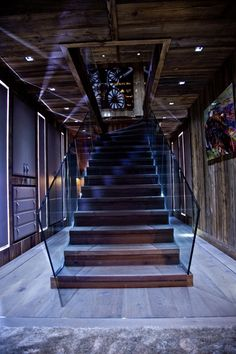 Entrée Chalet Brickell Le Palace, Grands Salons, Best Hotels, Stairs, Contemporary, Luxury, Architecture, Staircases, House