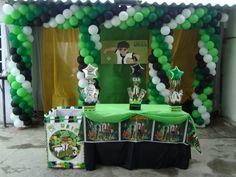 decoración con globos ben 10