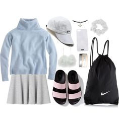 nikey by decayy on Polyvore featuring J.Crew, Monki, NIKE, Zara, Forever 21 and H&M