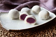 The English version of the purple sweet potato mochi recipe is beneath the Hungarian post. A mochi nem más mint […] Sweet Potato Mochi Recipe, Sweet Potato Recipes, Purple Sweet Potatoes, Cooking Recipes, Mint, Fresh, Food, Sweet Potato, Chef Recipes