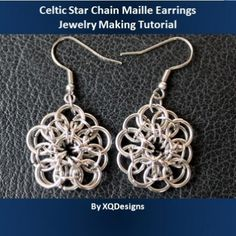 This tutorial is a variation of the Celtic Star Chain Maille technique, a simple yet beautiful technique with so many possibilities. With the Celtic Star Chain Maille you can create motifs and link them together to create a necklace, or bracelet, or you can choose to create the Celtic Star Chain Maille as a solo piece and use it as a pendant or like in this tutorial, a pair of earrings. Just use your imagination and you'll create wonders with chain maille technique.