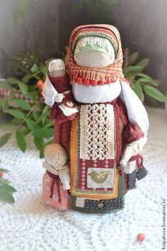 """Купить куколка-оберег Рябинка""""Солнечная ягодка"""". - ярко-красный, Рябинка, народная кукла, народная традиция"""