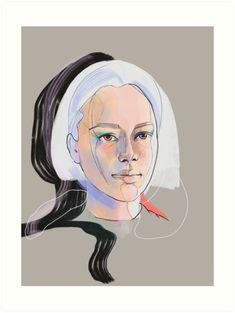 ' Art Print by Anna Tomka Digital Portrait, Colour Images, Sell Your Art, Art Boards, Digital Illustration, Print Design, Vibrant Colors, My Arts, Painting
