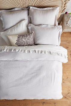 Guest room. Soft-Washed Linen Duvet - anthropologie.com