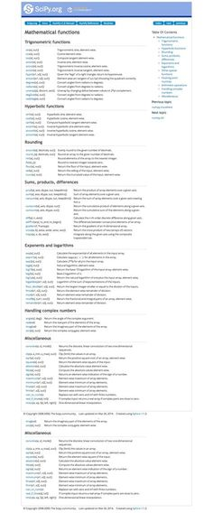 Scipy Python Cheat Sheet