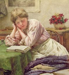A Quiet Read Painting