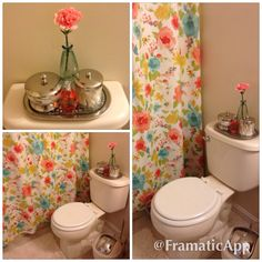 Small bathroom decoration with live, fresh, and springy colors :)     @jcpenney @homegoods  #homegoodshappy #homegoods #fabfound #colorful #bathroom @marshalls #yellow #coral #blue #green
