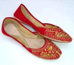 jaipur jutti- beautiful red shoes
