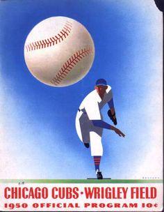 Robert Newman » Vintage Chicago Cubs Programs Designed by Otis Shepard