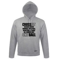 Sweatshirt Hoodie Kapuze CROSSFIT others only ONE BALL Sport Siviwonder bis 3XL