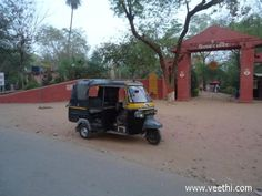 Auto Rickshaw in front of Sun Temple, Gwalior
