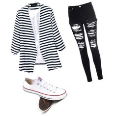 Untitled #26 by a-mido on Polyvore featuring polyvore fashion style Glamorous Converse
