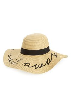 Image of BP. 'Come Sail Away' Floppy Straw Hat