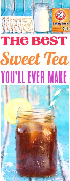 Sweet Tea Recipe Southern Heaven!  The best iced tea you'll ever make... and the secret ingredient makes a perfect batch ever time!