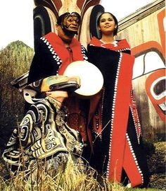 tlingit dancers...this is our colors...red, black and white.