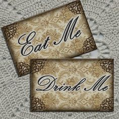 Drink Me and Eat Me Alice In Wonderland Primitive by thephotocube