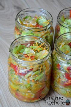 Sałatka z ogórków i papryki na słodko-kwaśno do słoików na zimę - REWELACJA! <3