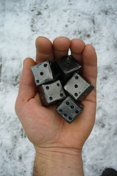 BLACKSMITH FORGED DICE 1 square by NazForge on Etsy, $11.50