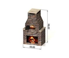 plans for outdoor fireplace and oven combo - Bing images