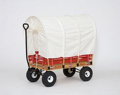 "Conestoga Wagon Cover fits kids wagons from 33"" to 48"" long. Complete with hoops and screw-on cleats. Amish USA made."