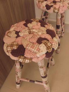 banquinhos de tecido