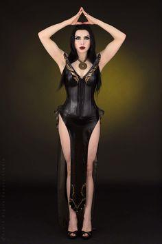 Pale Skin and Long Black Hair https://www.steampunkartifacts.com