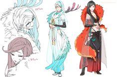 """朱里/shuri no Twitter: """"【女体化ネタ】 女士さん新しいこ追加分+らくがきまとめました。ダメそうなら速やかに逃げてくださいね。… """" . Character Creation, Character Concept, Character Art, Manga Games, Manga Comics, Anime Outfits, Touken Ranbu, Character Design Inspiration, Anime Art Girl"""