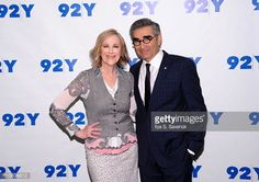 Catherine O'Hara and Eugene Levy attend 92nd Street Y Presents 'Schitt's Creek' at 92nd Street Y on March 14 2016 in New York City
