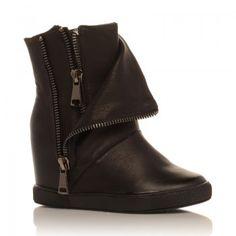 Cizme  Cosmopolitan - Cizme cu toc ascuns perfecte atat pentru toamna cat si pentru iarna. Cosmopolitan, Wedges, Boots, Fashion, Crotch Boots, Moda, Fashion Styles, Shoe Boot, Fasion