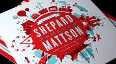 Letterpressed Birth Announcement by Mattson Creative of Southern California. Love the bold colors used here.