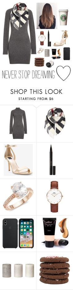 """""""Never stop dreaming ✨"""" by ananyasharmad85 ❤ liked on Polyvore featuring Frame, Burberry, White House Black Market, Stila, Saks Fifth Avenue and Daniel Wellington"""