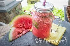 Easy Watermelon Cooler Watermelon Cooler, Eat To Live, Cantaloupe, Mason Jars, Organic, Fruit, Vegetables, Health, Easy