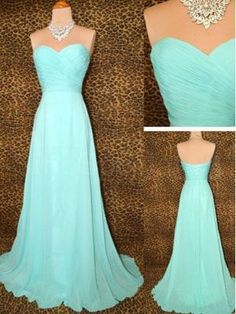 Sofisticated Tiffany blue prom dress.