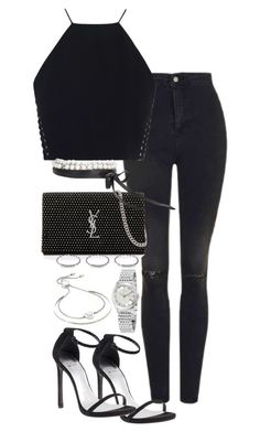 """Untitled #2282"" by theeuropeancloset on Polyvore featuring Topshop, Zimmermann, Stuart Weitzman, Yves Saint Laurent, Fallon, New Look, Gucci and Michael Kors"