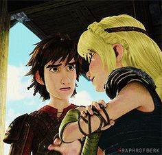 RTTE | Hiccstrid < I love the way Hiccup smiles at Astrid. You can tell he cares for her so much. :)