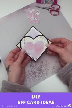 How to make a multiple fold card like the one in this video? Diy Crafts Hacks, Diy Crafts For Gifts, Diy Arts And Crafts, Cool Paper Crafts, Paper Crafts Origami, Diy Gifts Videos, Diy Birthday, Watch, Cards Diy