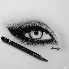 Drawing Eyes Incredibly realistic eye drawing with pencil - Eye Pencil Drawing, Realistic Eye Drawing, Drawing Eyes, Pencil Art, Pencil Drawings, Makeup Drawing, Drawing Of An Eye, Drawing Stuff, Amazing Drawings
