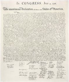Servant Leadership and Our Nation's Independence - US  Declaration of Independence - Small