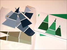 Awesome DIY Christmas cards made with paint swatches!