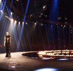 Roberto Cavalli's Runway Set Fall 2014