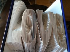 Love, recycled books, used books, wedding, gift, present, anniversary, boyfriend, girlfriend, friend, unique, custom, birthday, folded book