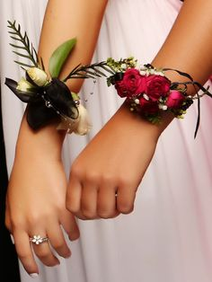 Rosehill Ball 2015. Love these beautiful corsages! www.whitedoor.co.nz