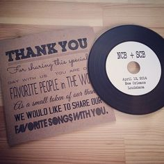 Entertained by the favorite songs of last weekend's bride and groom! As a couple that loved music, how perfect is this #weddingfavor?! #tyingtheknotweddings #weddingdesigner