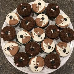 Secret Life of Pets Max and Duke Cupcakes Dog Themed Parties, Puppy Birthday Parties, 5th Birthday Party Ideas, Puppy Party, Dog Birthday, Birthday Celebration, Happy Birthday, Party Animals, Animal Party