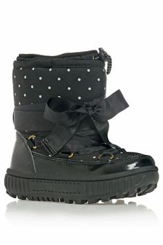Black Snow Boot (Younger Girls) -- I would so wear these! #winter #boots