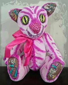 Check out this item in my Etsy shop https://www.etsy.com/uk/listing/596454335/cheshire-kitten-pink-viscose-cat-artist