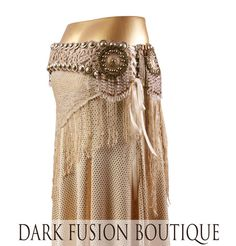 Belt Sepia Gold Cream Corset Belt Formal от darkfusionboutique